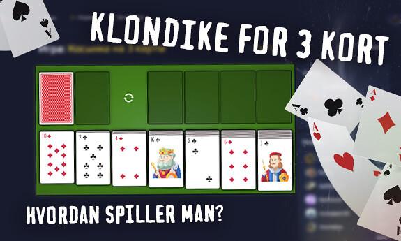 Klondike for 3 kort