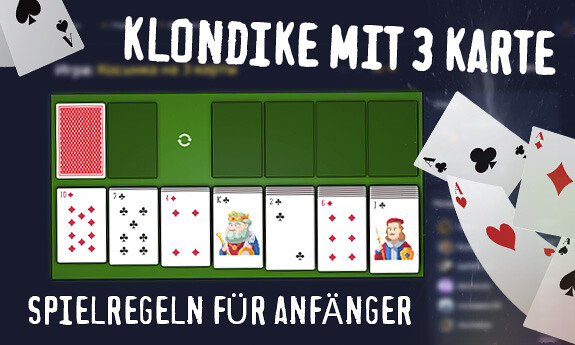 Klondike mit 3 Karten