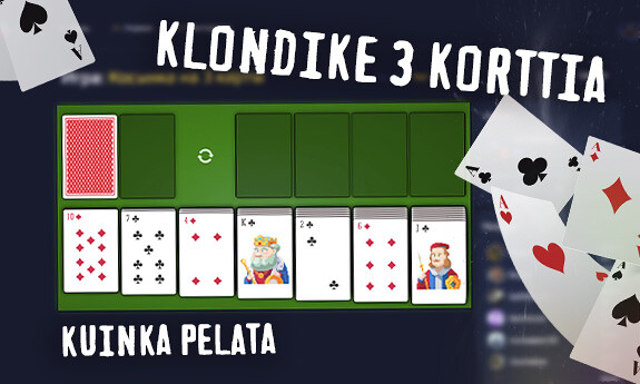 Klondike 3 korttia