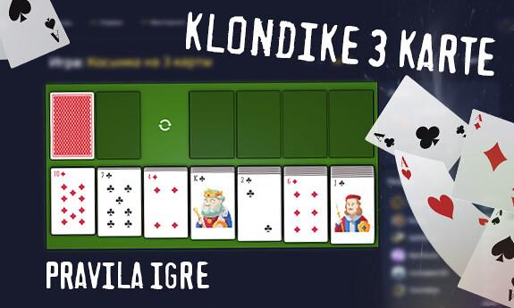 Klondike 3 karte