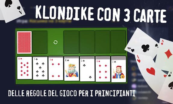 Klondike con 3 carte