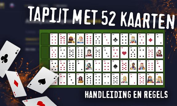 Tapijt met 52 kaarten