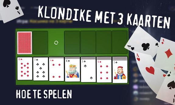 Klondike met 3 kaarten