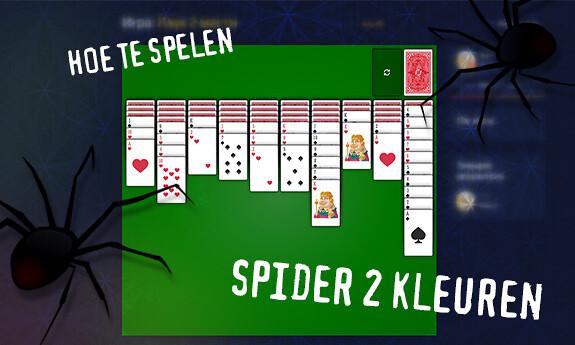 Spider solitaire 2 kleuren