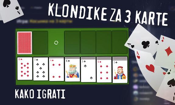 Klondike za 3 karte