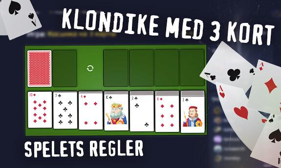 Klondike med 3 kort