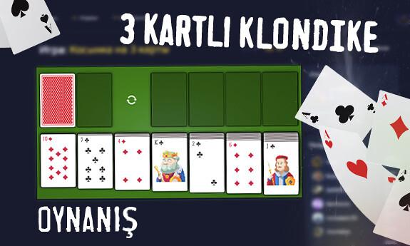 3 kartlı Klondike